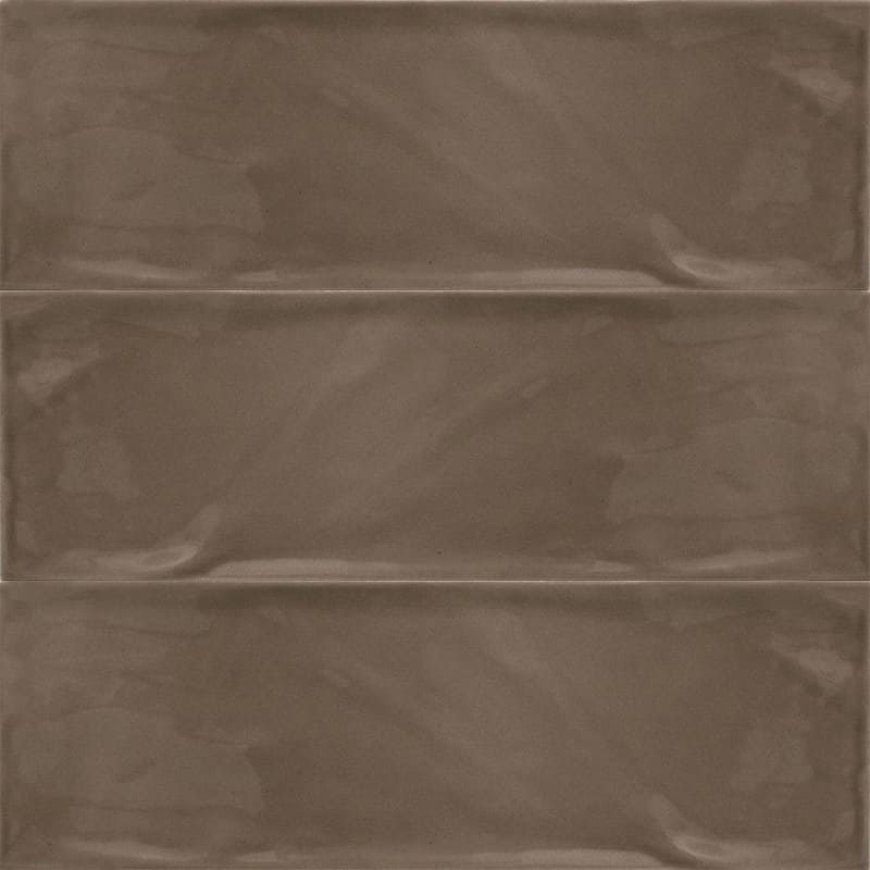 Sample image of the Bulevar Brown 10x30,5cm gloss wall tile from Spain.