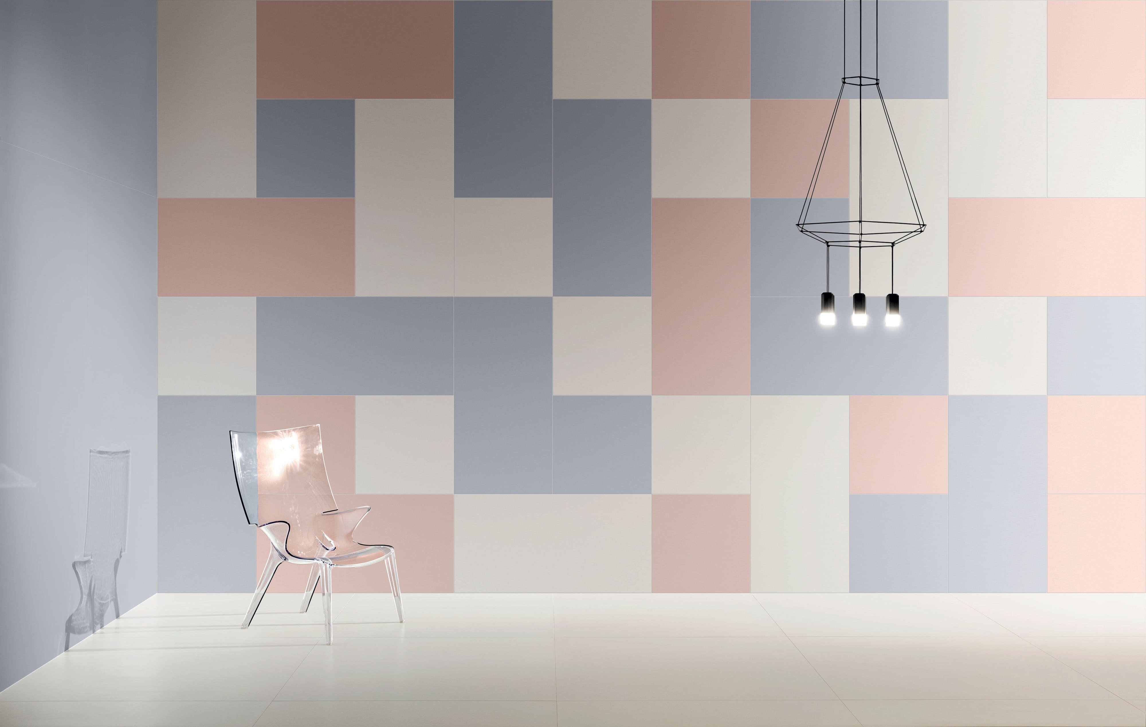 Full body porcelain stoneware 600x1200(mm) tiles for wall and floor. Based on a thorough study of nature's colours. Deco Large Cielo E Terra Violette by Decobella South Africa.