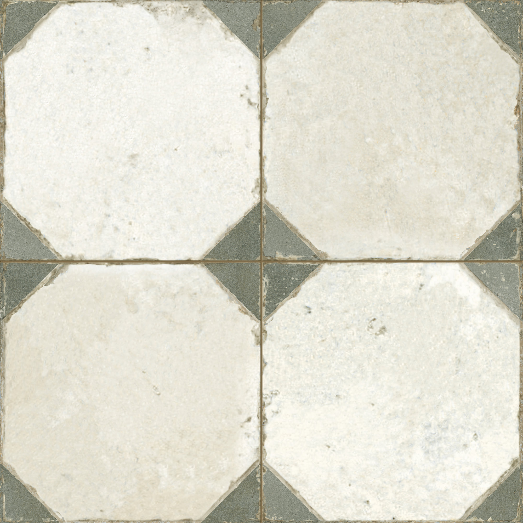 Vintage ceramic tile with geometrical pattern. Deco FS Yard Sage by Decobella South Africa. Perfect for wall and floor applications.