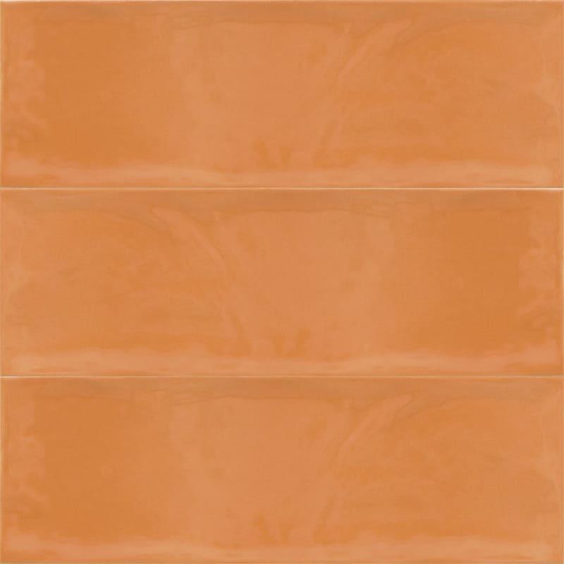 Sample image of the Deco Metro Royal Naranja 10x30,5cm gloss wall tile from Spain.