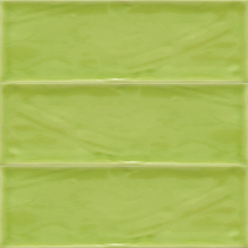 Sample image of the Deco Metro Royal Pistacho 10x30,5cm gloss wall tile from Spain.