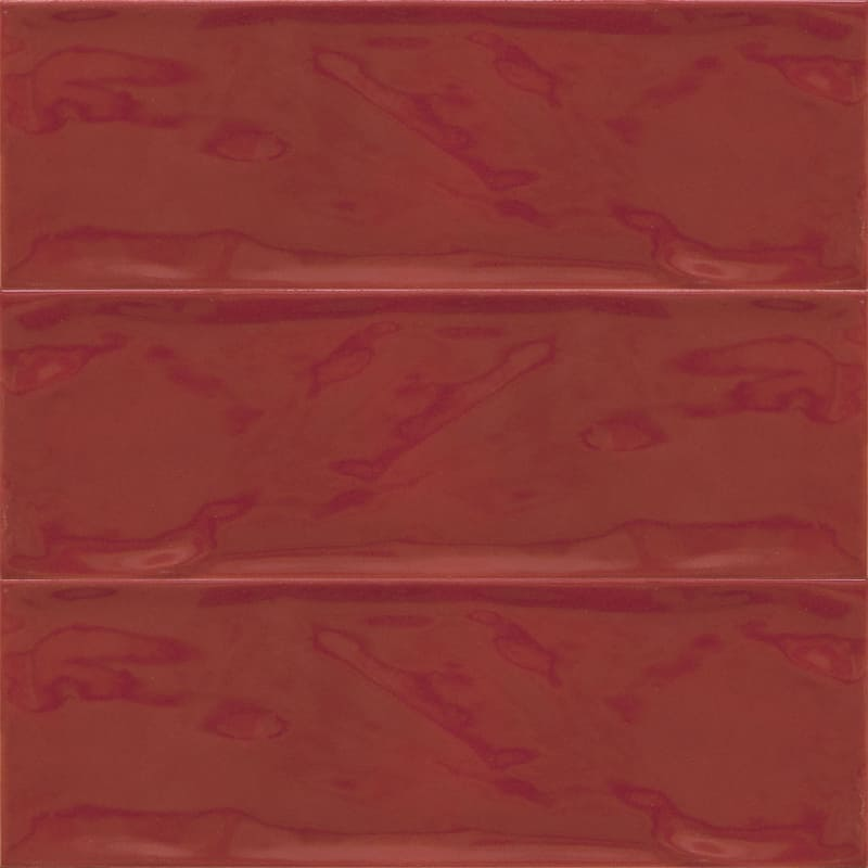 Sample image of the Deco Metro Royal Rojo 10x30,5cm gloss wall tile from Spain.