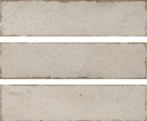 Metro ivory crackle subway tile 75x300mm soul ivory  by Decobella Tiles - South Africa with up to 15 faces, this tile represents an authentic handpainted tile with a crackle effect. Ideal for kitchen splash-backs, full wall features in bathrooms or living room areas.