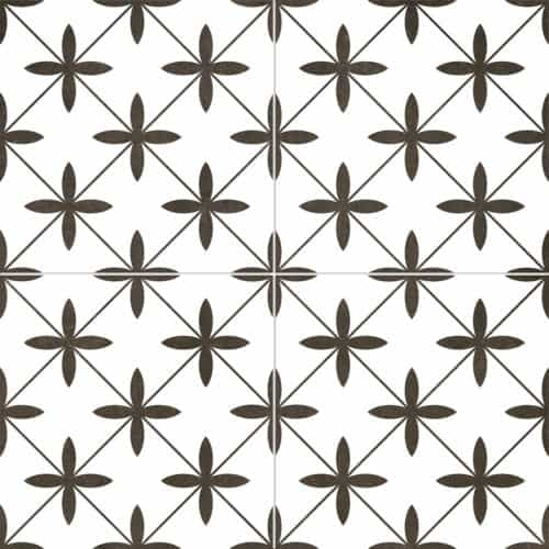 modern pattern décor tile 450x450mm Deco Poole White by Decobella tiles - South Africa cross pattern that creates a chic look. A Great choice for creating a focal point or full floor renovation,