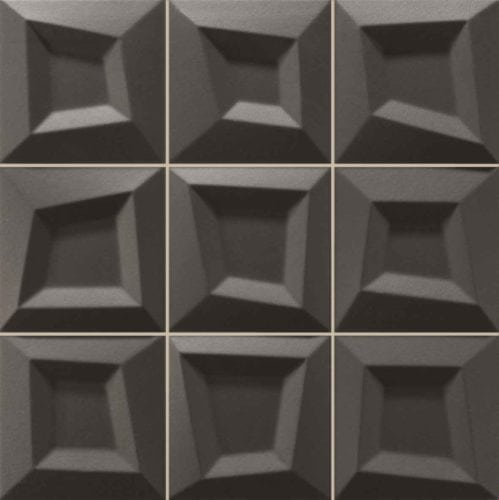 Moden black 3-d décortile 330x330mm Deco Frame black by Decobella tiles - South Africa  330x330mm wall tile - ideal for modern renovations as a full wall feature in any area. Imported from Spain and a multi dimensional thickness  to enhance any focal point.