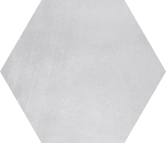 light grey hexagon décor tile Deco Stark argent   by Decobella tiles - South africa cement finish to create various tones. Ideal for floor or wall application 250mm290mm