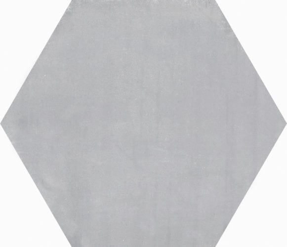 grey hexagon décor tile Deco Stark gris  by Decobella tiles - South africa cement finish to create various tones. Ideal for floor or wall application 250mm290mm