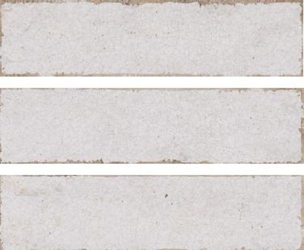 Metro white crackle subway tile 75x300mm soul white  by Decobella Tiles - South Africa with up to 15 faces, this tile represents an authentic handpainted tile with a crackle effect. Ideal for kitchen splash-backs, full wall features in bathrooms or living room areas.