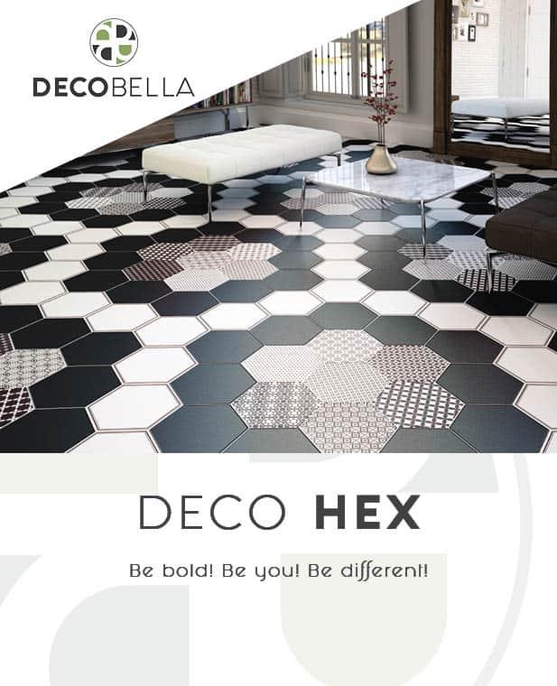 Deco Hex Decorative Hexagonal Tiles from Decobella